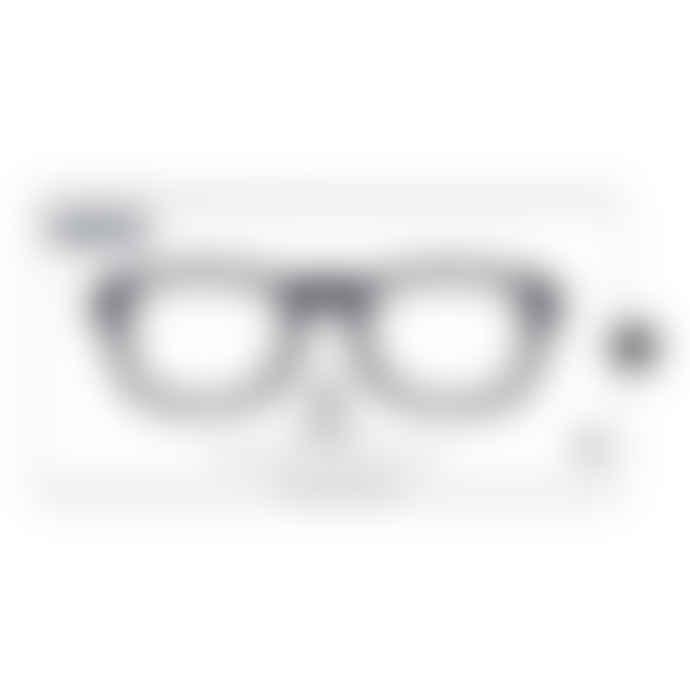 IZIPIZI Black Unisex Reading Glasses +1 #B