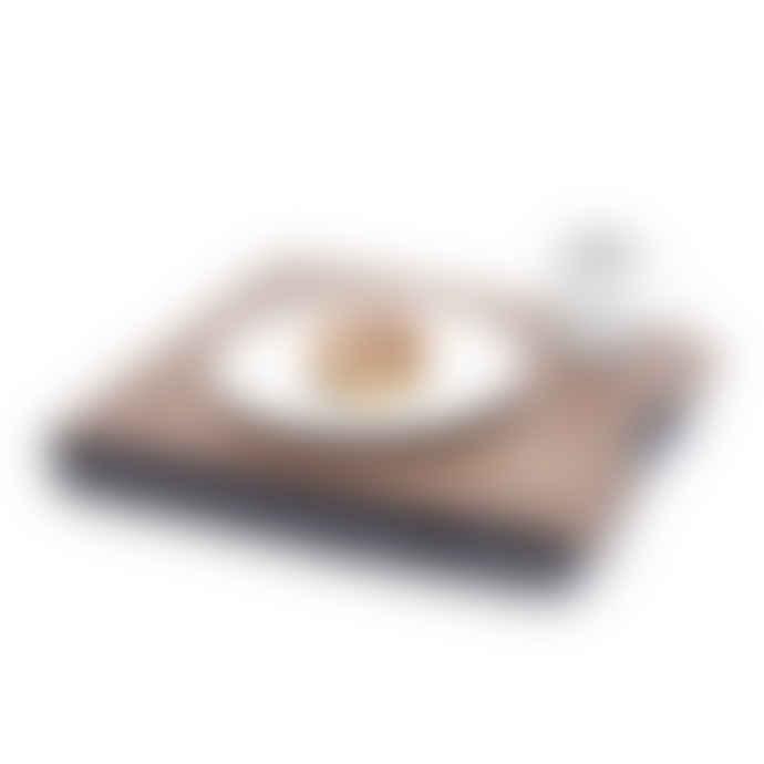 Bosign Large Walnut Wood Antislip Lap Tray with Salt Pepper Cushion