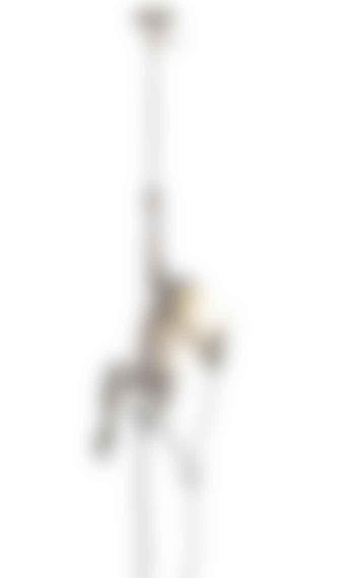 Seletti White Resin Hanging Rope Monkey Lamp