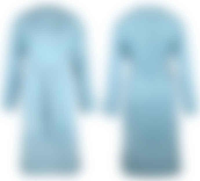 Format YUMI bluegreen moleskin coat