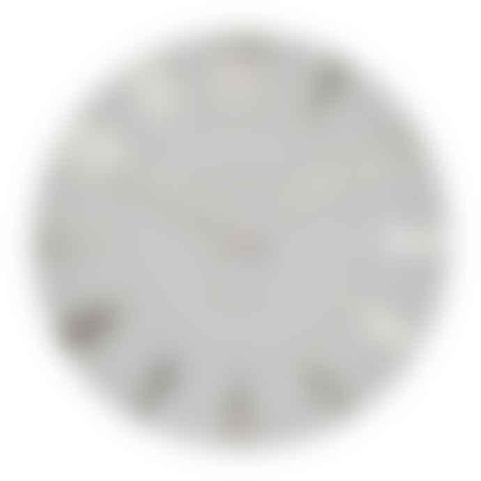 Thomas Kent 50cm Silver Cloud Mulberry Wall Clock