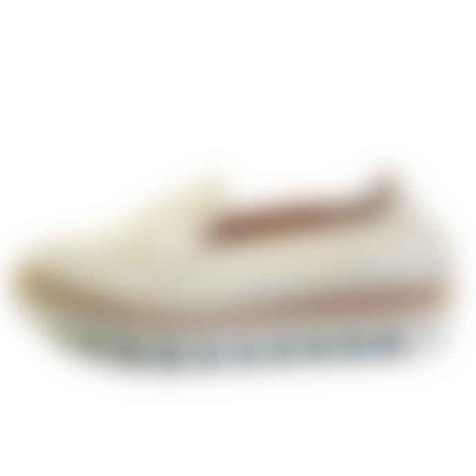 Hogl Chic White Leather Platform Loafer
