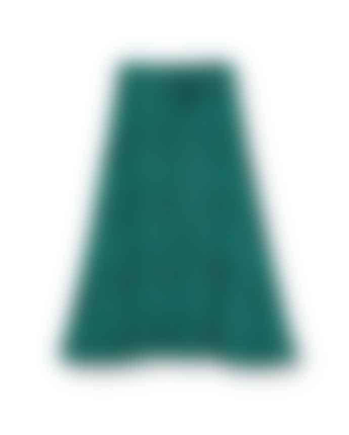 Pyrus  Miranda midi skirt in Green leopard silk print