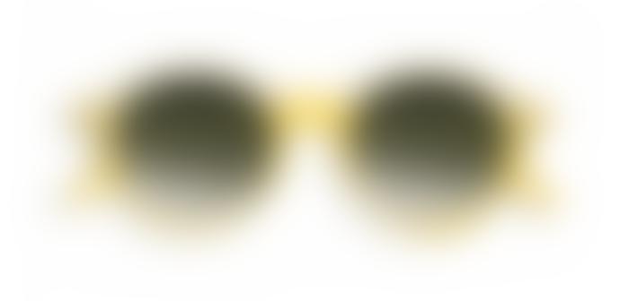 IZIPIZI D Shape Yellow Chrome Green lenses Sunglasses