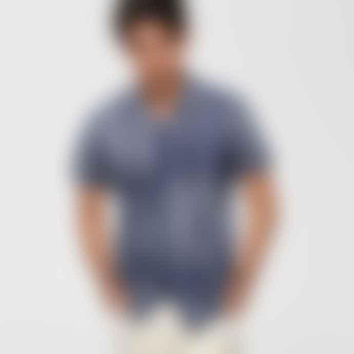 Selected Homme Dark Blue Sapphire Tokyo Short Sleeve Shirt