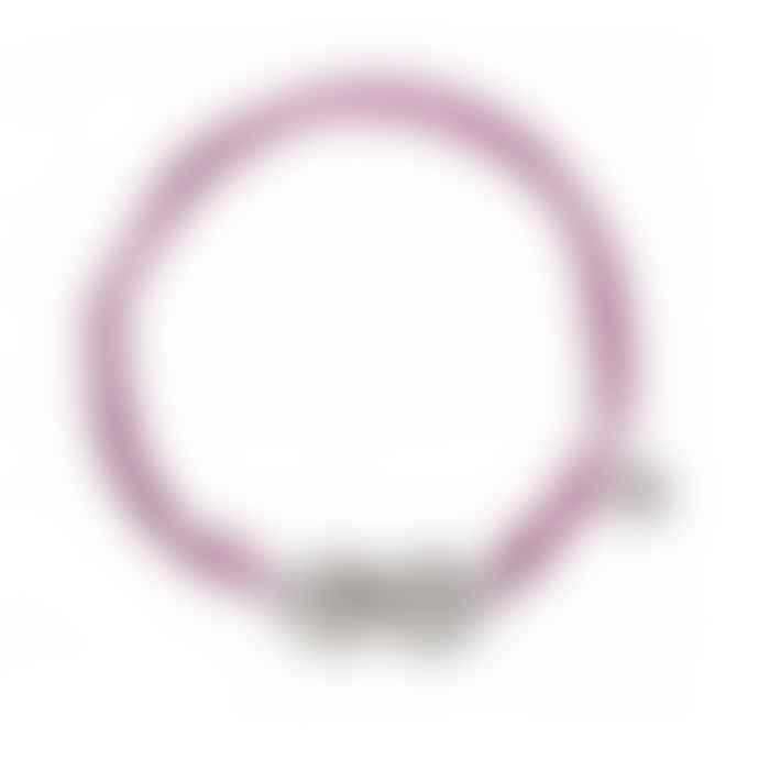 laf Large Purple Cotton Adjustable Bracelet