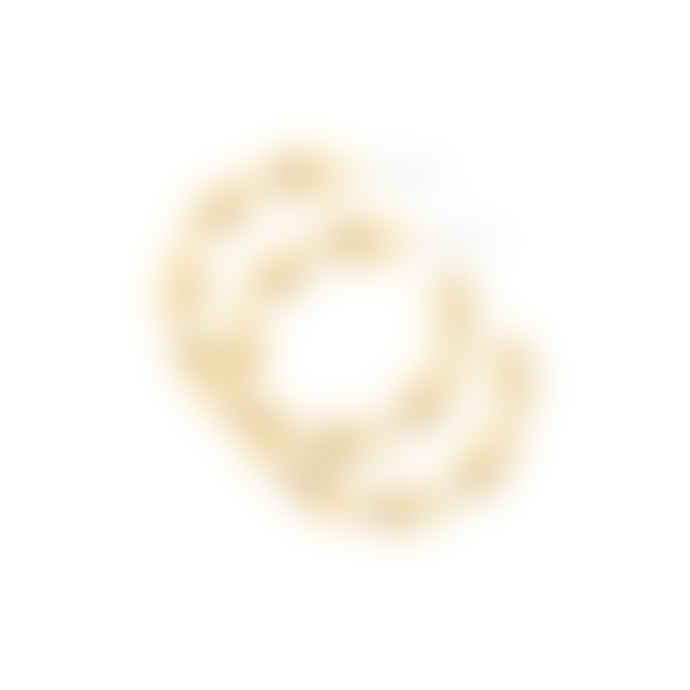 Dansk Smykkekunst Gold Plated Copper Tara Swirl Earring
