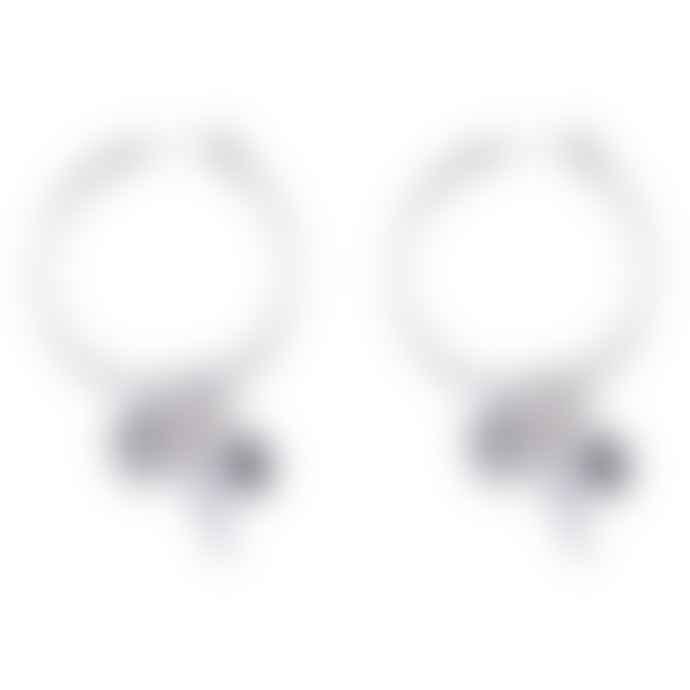 laf Silver Playmobil Hoop Earrings
