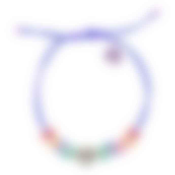 laf Hawai Arcoiris Blue Polyester Playmobil Bracelet