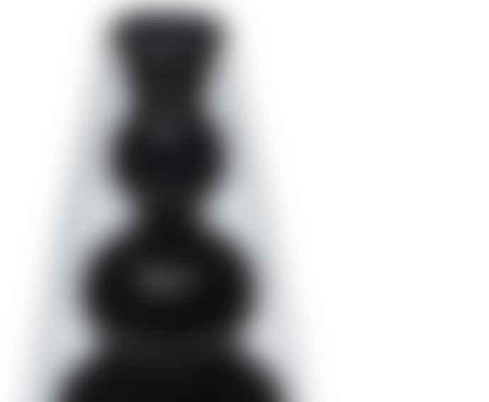 Tom Dixon Dark Gray Glass Bump Cone Vase