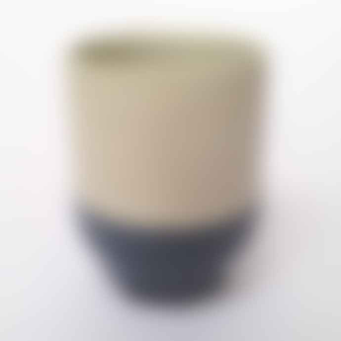 Return to Sender Gray Two Color Porcelain Espresso Cup