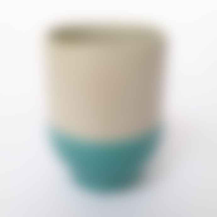 Return to Sender Turquoise Two Color Porcelain Espresso Cup