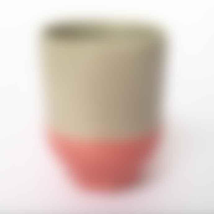 Return to Sender Coral Two Color Porcelain Espresso Cup
