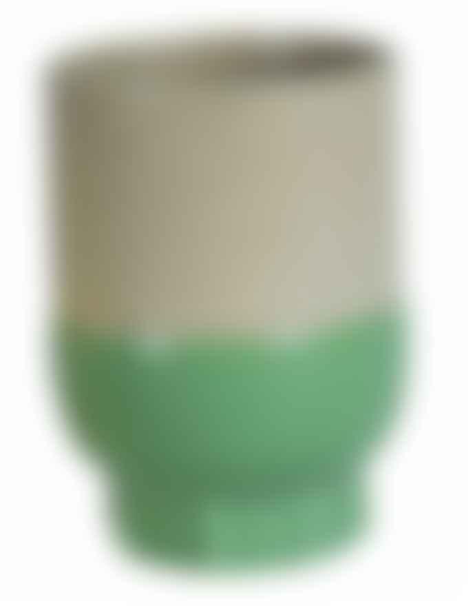 Return to Sender Green Two Color Porcelain Cup