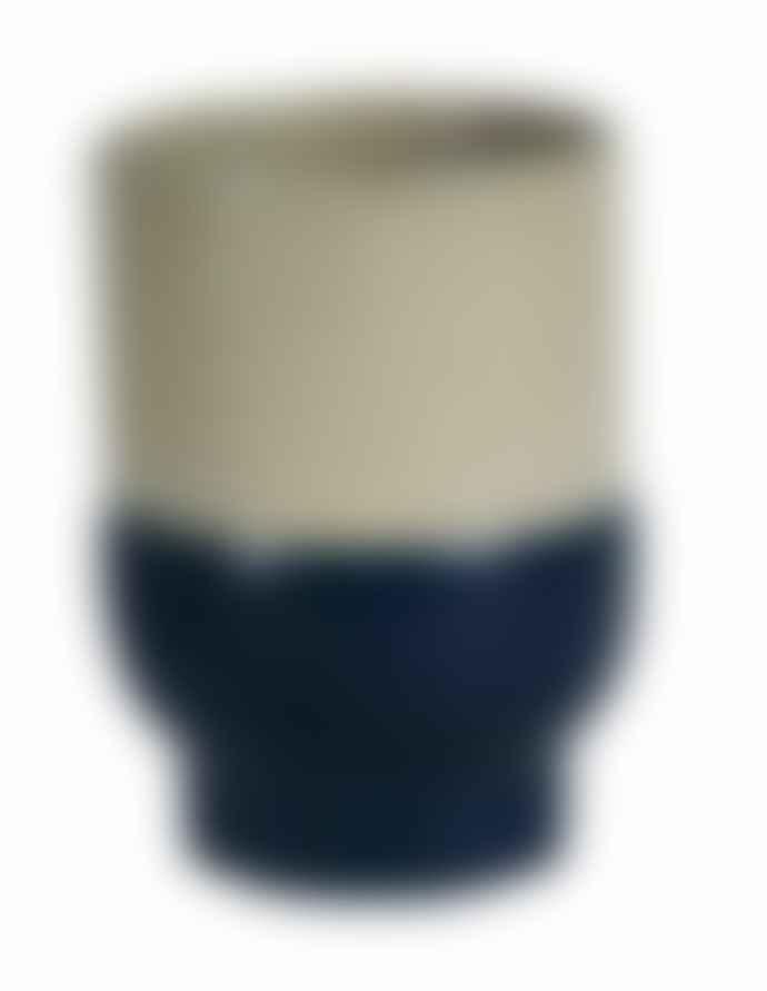 Return to Sender Dark Blue Two Color Porcelain Cup
