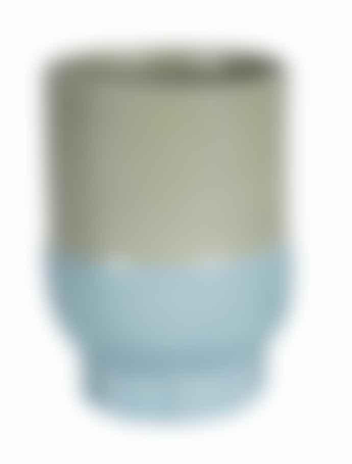 Return to Sender Light Blue Two Color Porcelain Cup