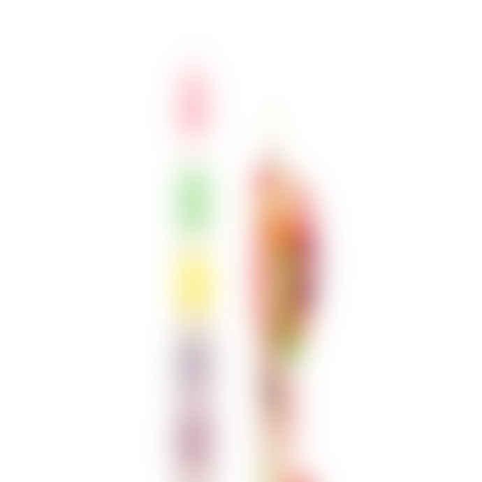 Bitten Design Rainbow Drip Colour Candles - Set Of 2