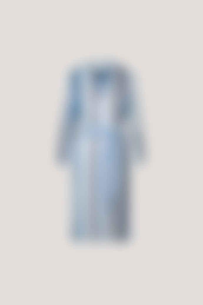 Samsoe & Samsoe Elva long sleeve stripe dress