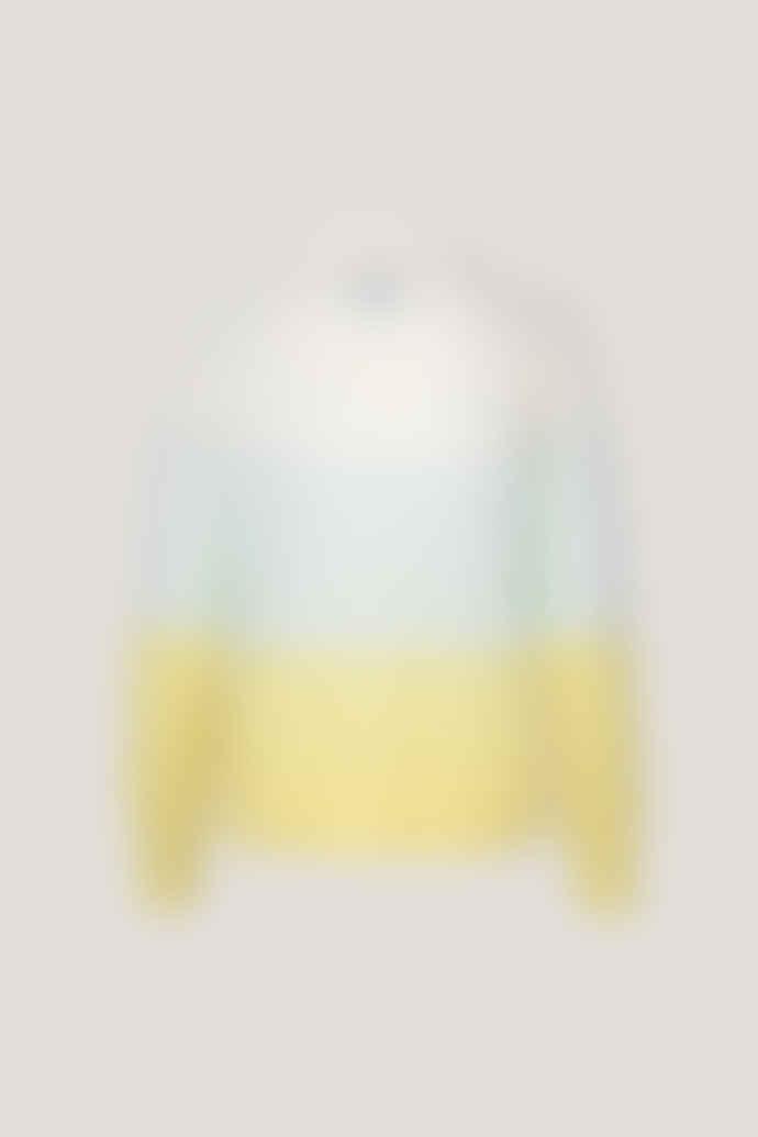 Samsoe & Samsoe Morgana O neck sweater in soothing sea stripe