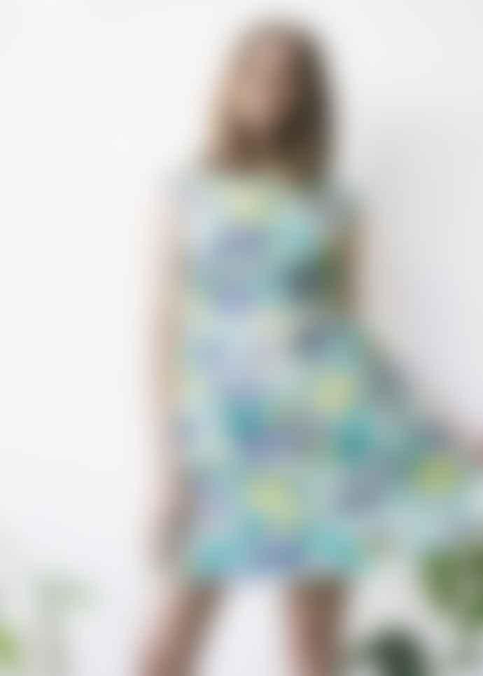 People Tree Tropical Organic Cotton Slim Fit Dress