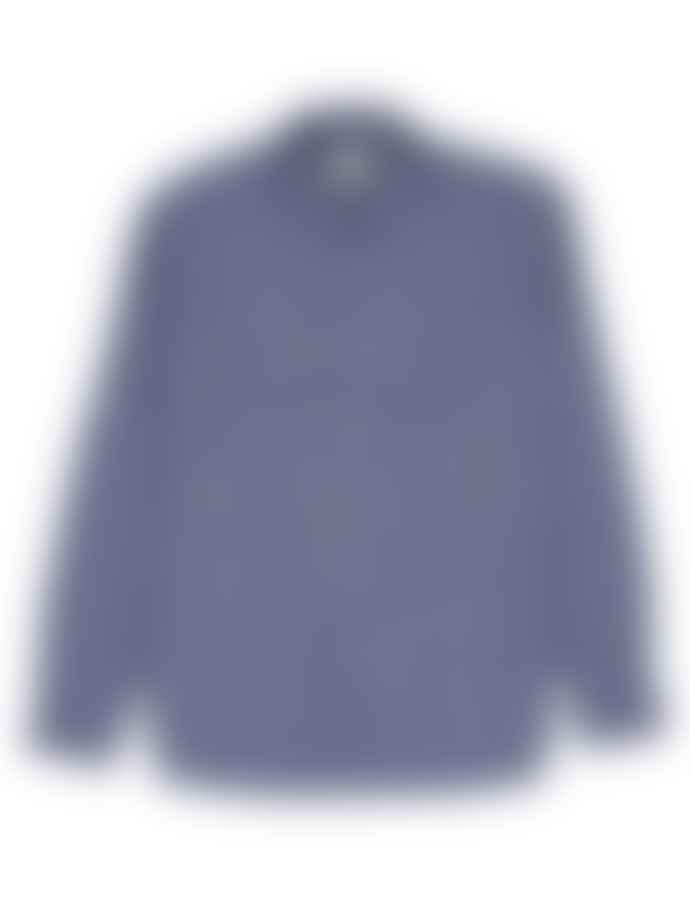 Oliver Spencer Talcot Navy Clerkenwell Tab Shirt