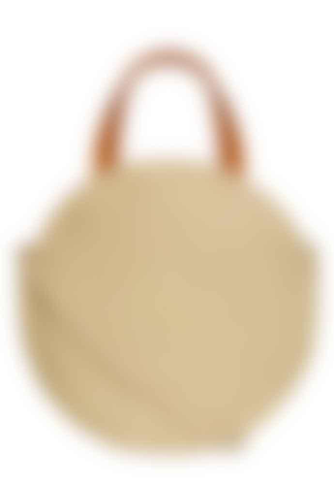 Nooki Design Neon Yellow Bacal Jute Round Shopper Bag