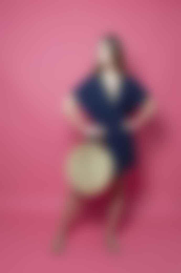 Nooki Design Neon Pink Bacal Jute Round Shopper Bag