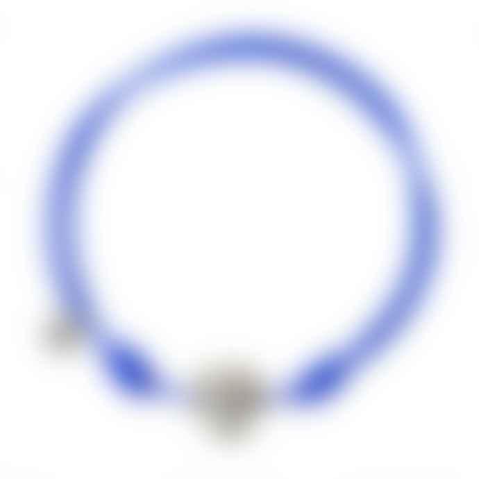 laf Large Blue Polyester Cord Cala Adjustable Bracelet