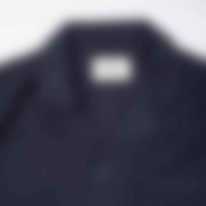 Folk Washed Navy L S Soft Collar Shirt
