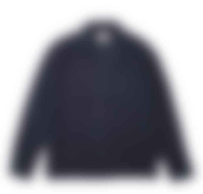 Folk Washed Navy L S Soft Collar Shirt