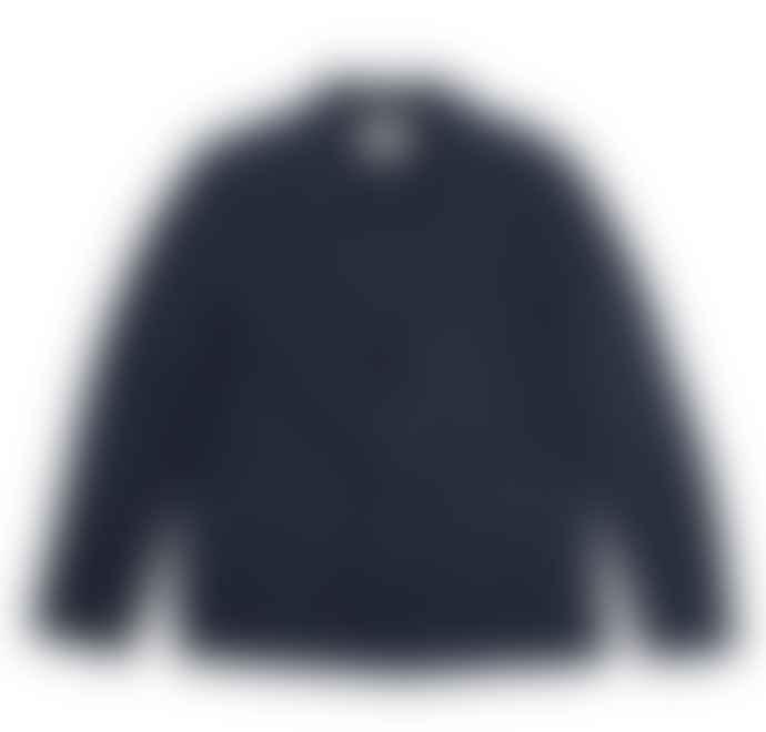 Folk Cotten Linen Blazer Summer Navy