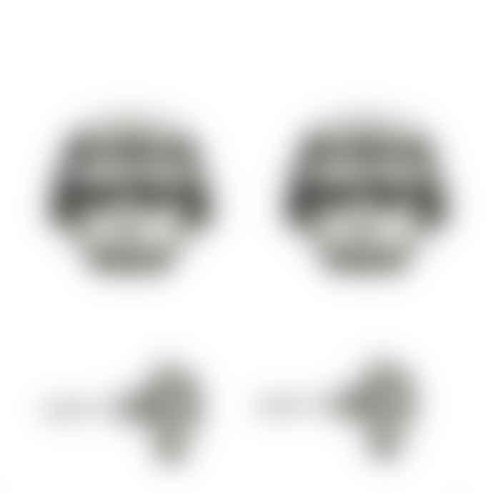 laf Small Silver Plated Zamak Enjoyed Head Earrings