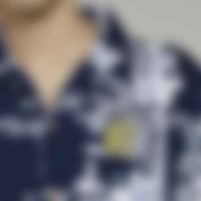 Bellfield Navy Panama Print Shirt