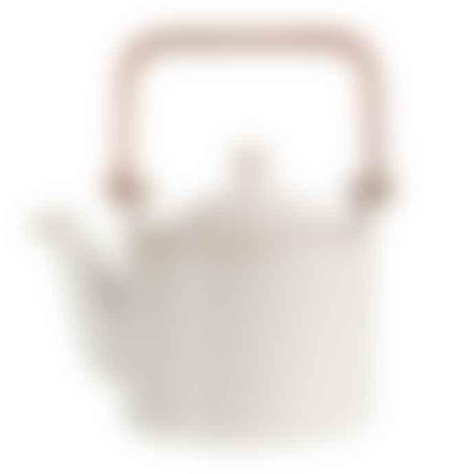 ASA Selection White Porcelain Teapot With Tea Strainer