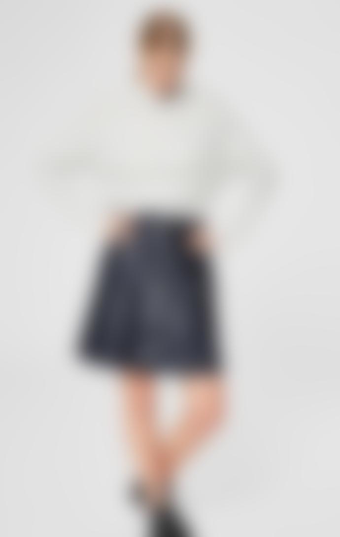 Selected Femme Kuma High Neck Knit - Snow White / Melange