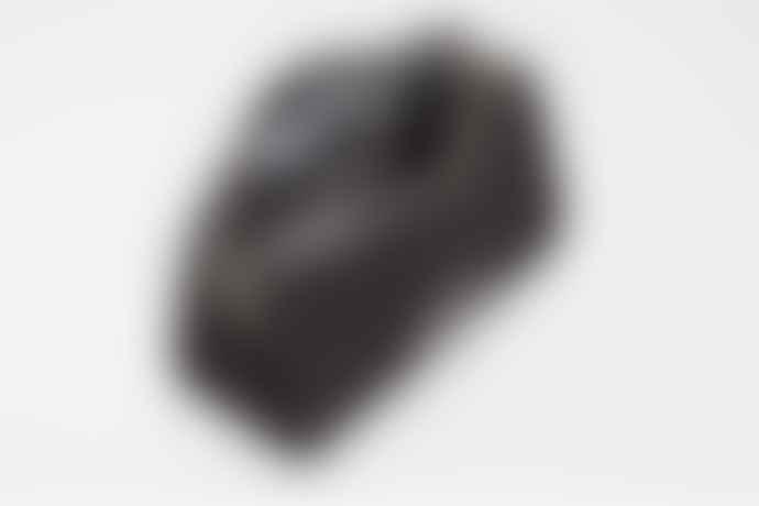 Sandqvist  Black Cotton Canvas Leather Ina Wash Bag