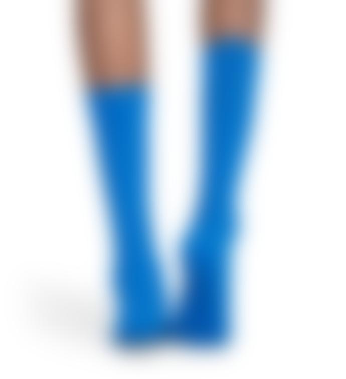 Happy Socks  Navy Cotton Dressed Moss Knit Sock
