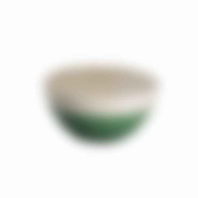 Return to Sender Dark Green Bubble Bowl