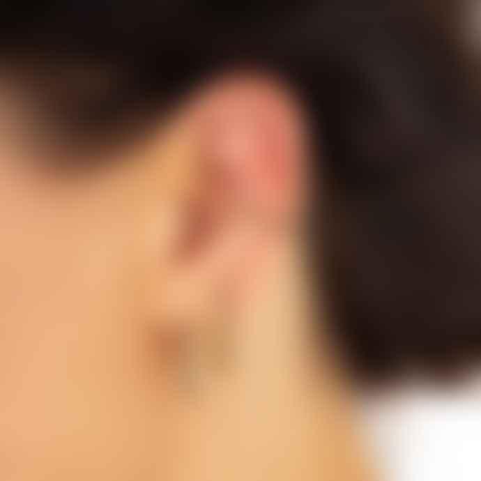 Scream Pretty  Black Stone Ear Cuff