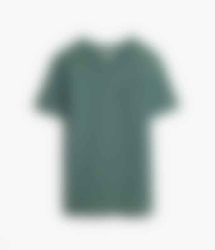 Merz b. Schwanen Merz B Schwanen Green Cotton Pocket T Shirt
