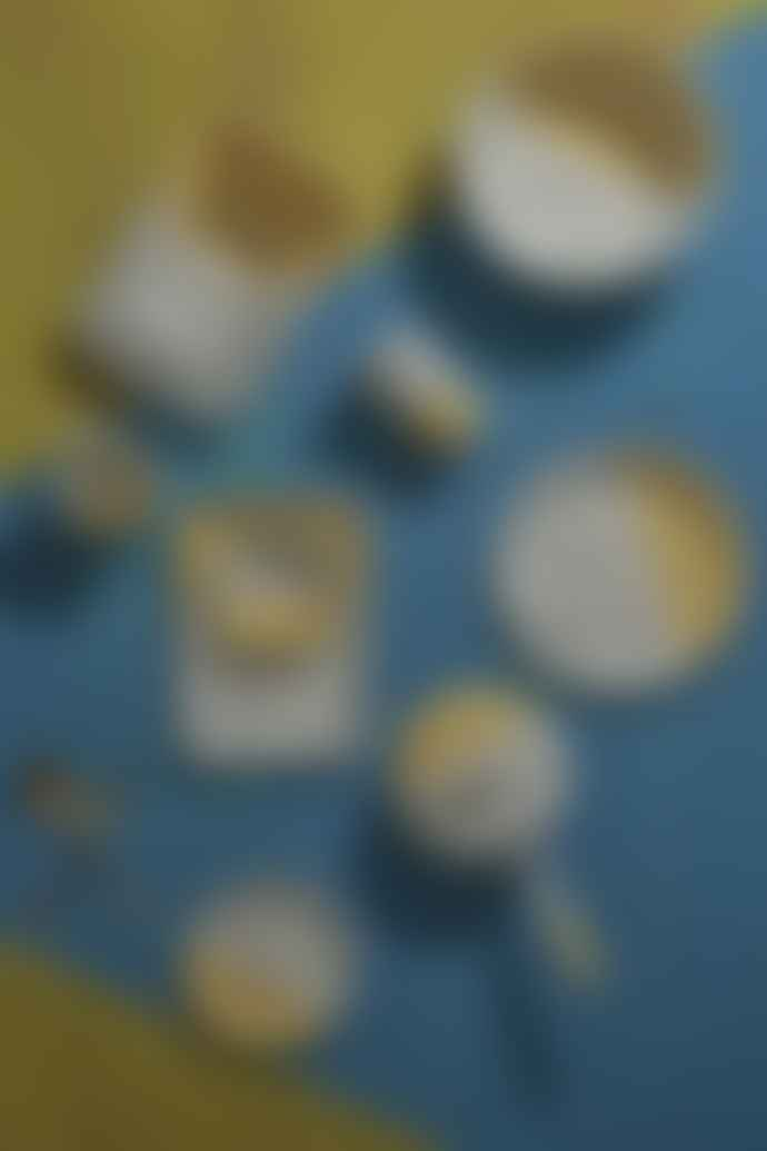 Kapka Yellow Mind Pop Enamel Dessert Plate