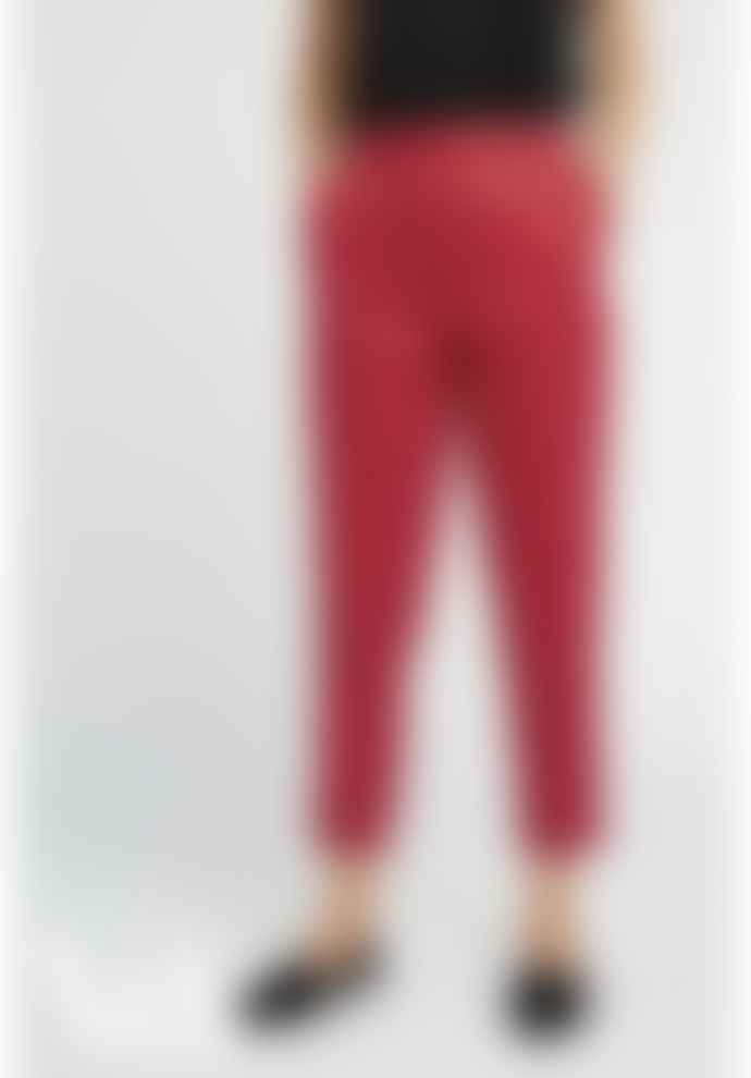 People Tree Red Cotton V&A Esther Print Trousers