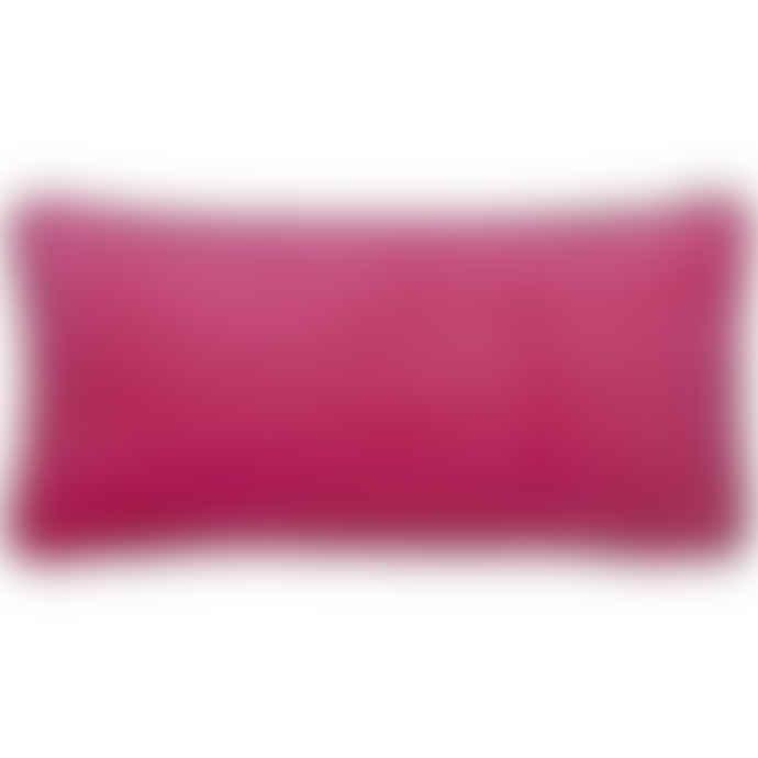 Liv Interior Pink Velvet Cushion Cover 30 x 60 cm