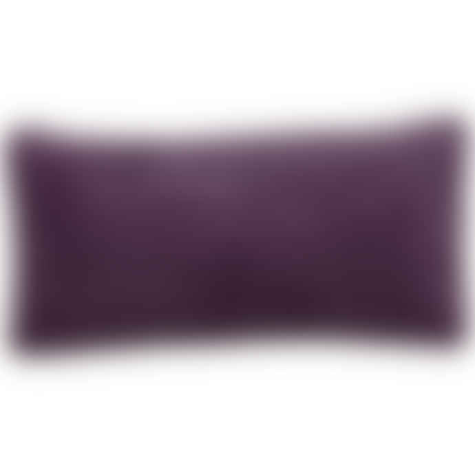 Liv Interior Plum Velvet Cushion Cover 30 x 60 cm