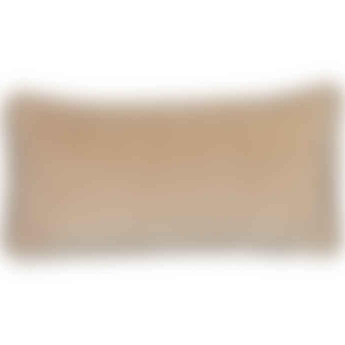Liv Interior Tan Velvet Cushion Cover 30 x 60 cm