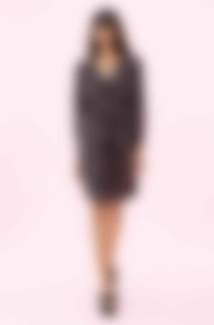 Rebecca Taylor Long sleeve satin jacquard copper cheetah print dress