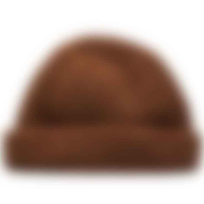 Burrows & Hare  Burrows Hare Irish Donegal Merino Wool Rust Beanie Hat