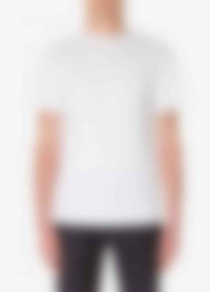 Sunspel White Riviera Mesh Crew Neck T Shirt