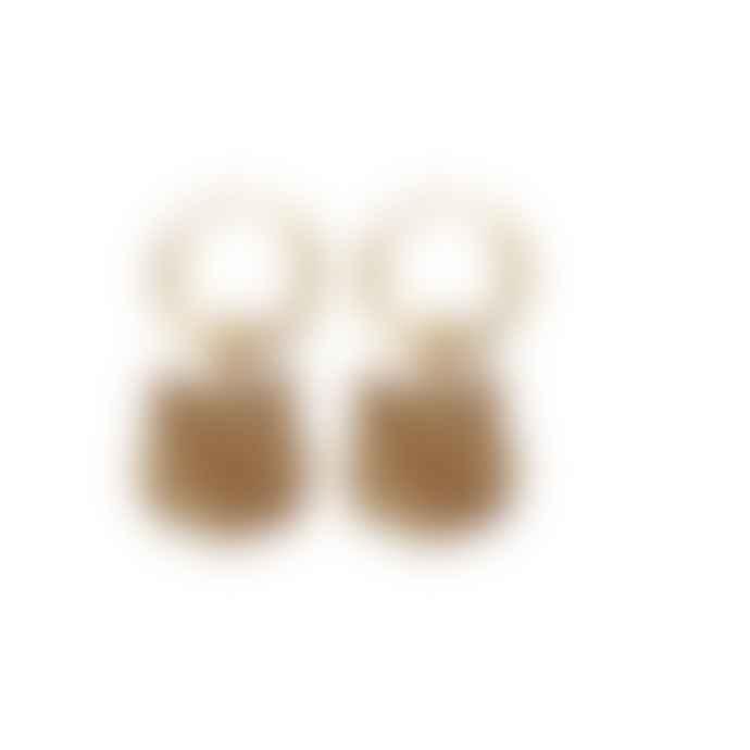 A la Tiger Head Earrings