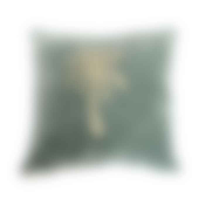 a la Palm Tree Velvet Cushion